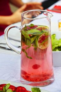Raspberry and mint