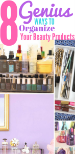 Checkout these Genius Ways to Organize Your Beauty Products. Organize| Organization of beauty products