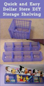 Plastic crate shelf