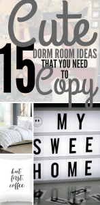 15 Cute Dorm Room Ideas and Tips. Tricks For Organization & Decorating Your Dorm Room.