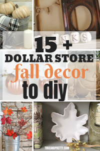Decorate for fall on a budget with these creative dollar store fall DIY ideas. You can get a majority of the supplies from the Dollar Tree.