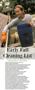 Checkout these fall cleaning checklists they have everything you need to do in your home - inside and out! | Deep Cleaning | Household Tasks | Organizing | Declutter.