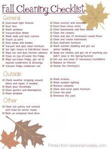 Checkout these fall cleaning checklists they have everything you need to do in your home - inside and out! | Deep Cleaning | Household Tasks | Organizing | Rubbish Removal| Declutter| Yard Clean Out.