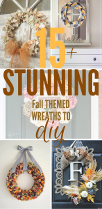 Fall is here! Decorate your home with these easy, simple, beautiful Fall DIY wreaths. #FallDecor