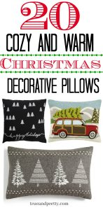 20 Cozy and Warm Christmas Decorative Pillows.Decorate your home with festive Christmas Pillows. Here's a few and some tips too!